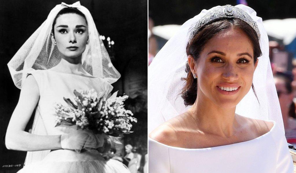 Audrey Meghan trouwjurken
